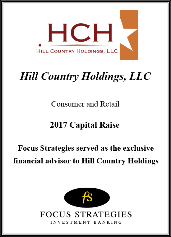 Hill Country Holdings Transaction 2017